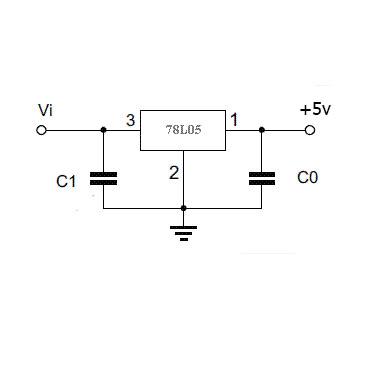 схема включения 78L05