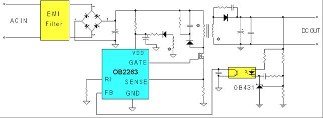 схема подключения OB2263