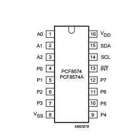 распиновка PCF8574