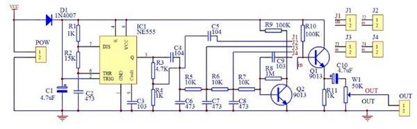 схема устройства генератора сигналов