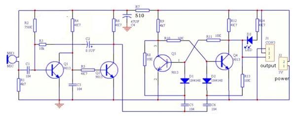схема набора звуковой выключатель
